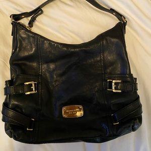 Medium black leather Michael Kors purse